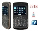 Мобилен телефон три сим карти  TV Mobile 9700 3 sim GSM